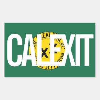 État de CALEXIT de Jefferson Sticker Rectangulaire