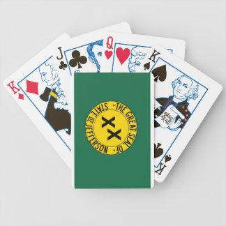 État de cartes de jeu de Jefferson Jeu De Poker