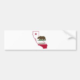 État de la Californie et d'ours gris Autocollant Pour Voiture