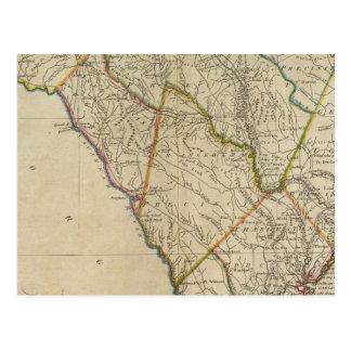 État de la Caroline du Sud 3 Carte Postale