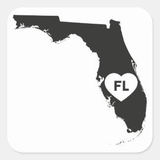 État de la Floride d'amour des autocollants I