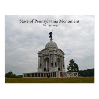 État de monument de Pennsylvanie Carte Postale