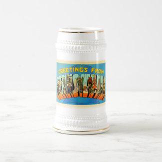 État de souvenir vintage de voyage de PA de Chope À Bière