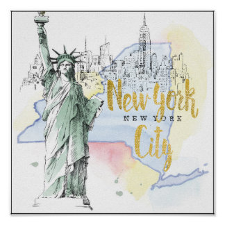 État de statue de New York | de la liberté Poster