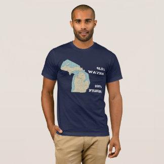 État de T-shirt de Michigan - l'eau 41,5% - Fre