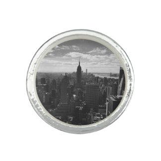 État d'empire d'anneau de New York Manhattan Bagues