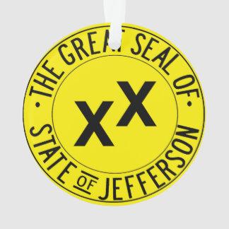 État d'ornement d'arbre de Noël de Jefferson