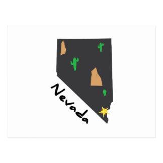 État du Nevada Carte Postale