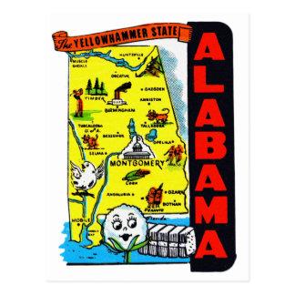 État vintage de kitsch de décalque de voyage carte postale