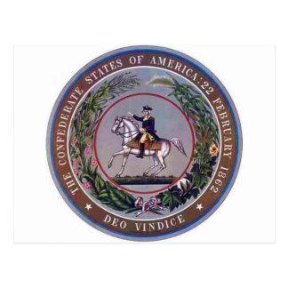 États confédérés de joint d'Amérique Carte Postale