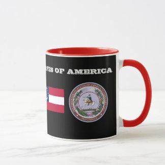États confédérés de tasse historique d'Amérique