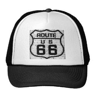 États de l'itinéraire 66 casquettes de camionneur
