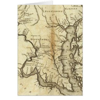 États du Maryland et du Delaware Carte De Vœux