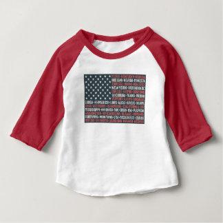 États et capitaux des Etats-Unis d'Amérique | T-shirt Pour Bébé