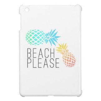 """été à la mode """"plage svp"""", ananas coloré coques iPad mini"""