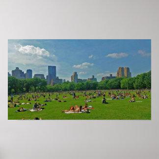 Été au Central Park Poster