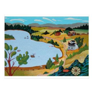Été au lac George Cartes Postales