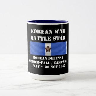 Été coréen de la défense - campagne d'automne mug bicolore