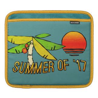 Été - coucher du soleil parfait de plage - carrelé housses iPad