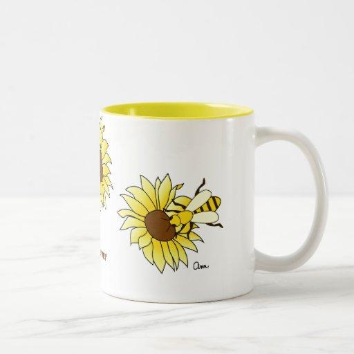 Été de charme d'abeilles et de tournesols mugs à café