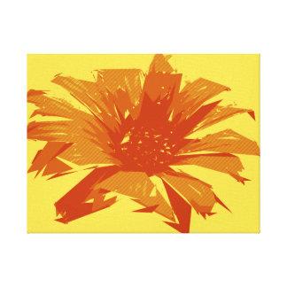 Été floral abstrait Duotone Toiles