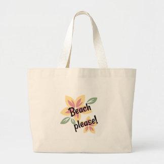 Été floral - plage svp grand sac