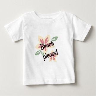 Été floral - plage svp t-shirt pour bébé