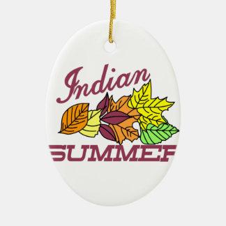 Été indien de la Saint-Martin Ornement Ovale En Céramique