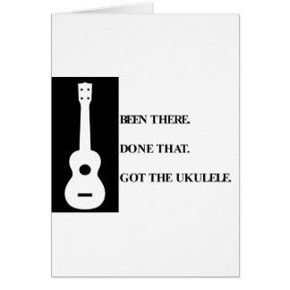 Été là, fait cela. A obtenu l'ukulele. Carte De Vœux