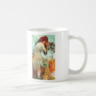 Été, les saisons, Mucha Mug Blanc