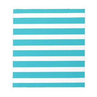 Été nautique de turquoise et de rayure blanche blocs notes