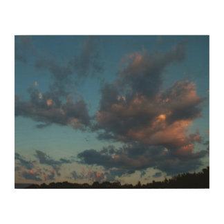 Été occidental 2016 de ciel et de nuages de lever impression sur bois