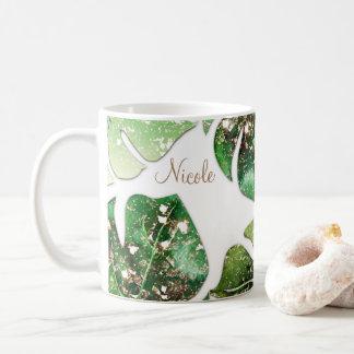 Été tropical fascinant de feuille d'étincelle de mug