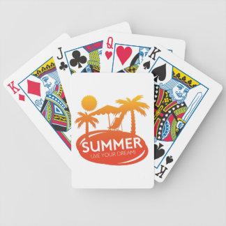 Été - vivent votre rêve cartes à jouer