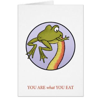 Êtes vous ce qui vous mangez la carte