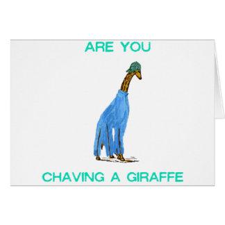 Êtes vous Chaving un Giraffe.png Cartes