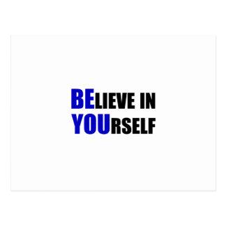 Êtes vous. Croyez en vous-même Carte Postale