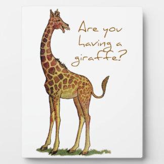 Êtes-vous eus une girafe ? plaque photo