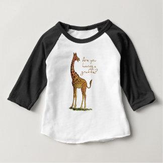 Êtes-vous eus une girafe ? t-shirt pour bébé