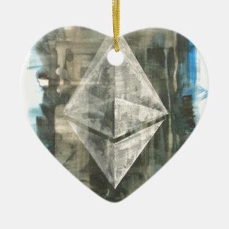 Ethereum Ornement Cœur En Céramique
