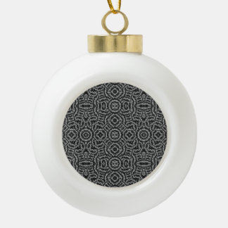Ethinc noir et blanc boule en céramique