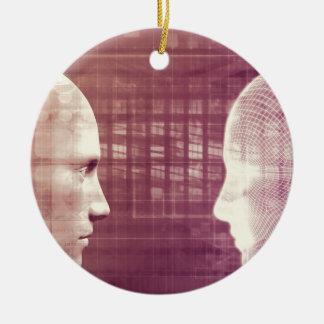 Éthique médicale comme concept abstrait d'arrière ornement rond en céramique