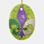 Étincelle de bijou de Fleur De Lis la Ornement Ovale En Céramique