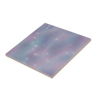 Étincelle mauve turquoise de lavande petit carreau carré