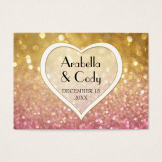 Étincelle première de Ticket Style Gold Pink de Cartes De Visite