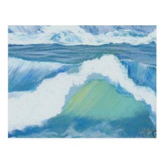 Étincelle spectaculaire - art d'océan de carte postale