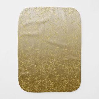 Étincelles chics de confettis d'or linges de bébé
