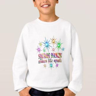 Étincelles de danse carrée sweatshirt
