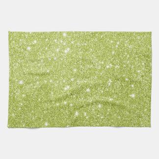 Étincelles de scintillement de vert de chaux serviette pour les mains
