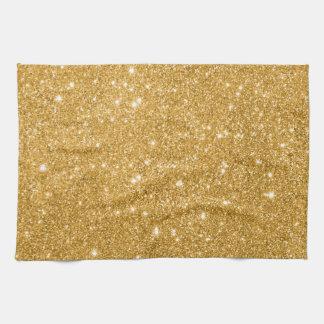 Étincelles de scintillement d'or serviettes pour les mains